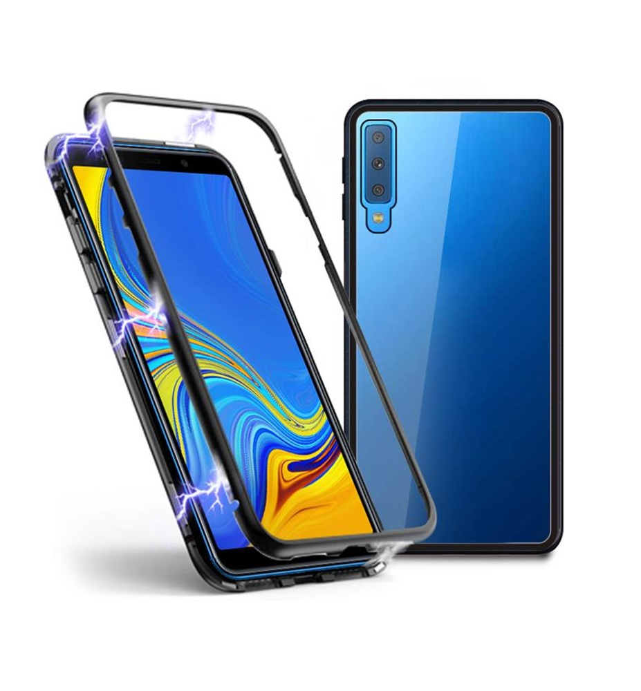 online store 68043 e5000 Details about SDTEK Magnetic Case for Samsung Galaxy A7 (2018) Glass Back  Cover