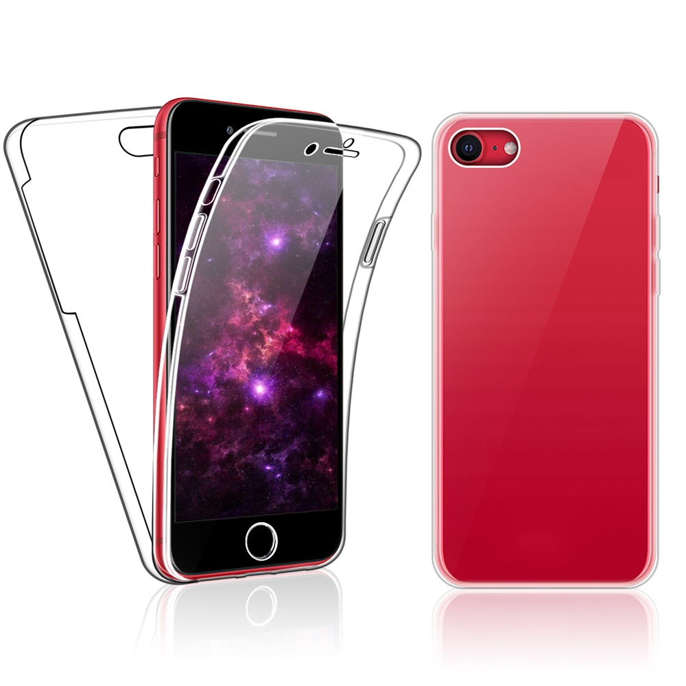 Case for iPhone SE 2020 / iPhone 7 / 8 Full 360 Gel Cover ...